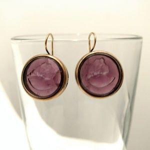 Vintage Extasia Intaglio Marlene Dangle Earrings